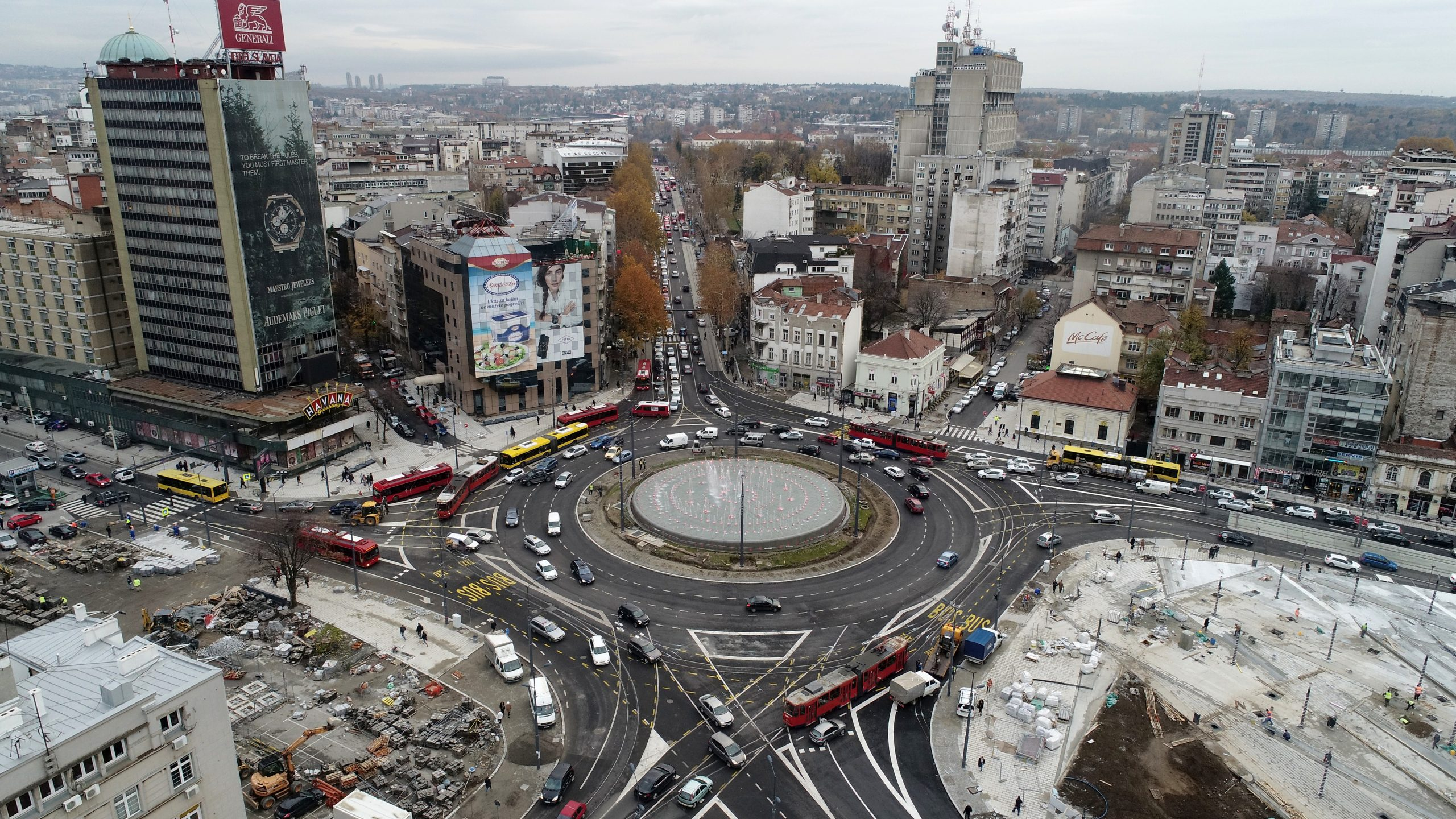 Elnos Group was a part of reconstruction of Slavija Square in Belgrade